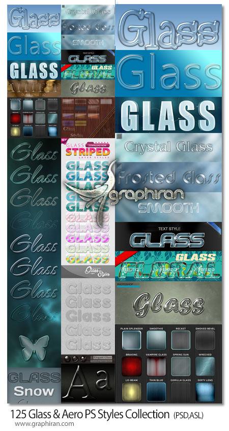 دانلود 125 استایل فتوشاپ شیشه ای شفاف