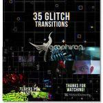 دانلود 35 ترانزیشن افترافکت گلیچ و نویز دیجیتالی Glitch Transitions
