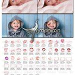 دانلود 50 عکس پوششی بوسه و افکت بوکه Kisses Photo PNG Overlays