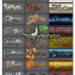 دانلود 30 استایل 3 بعدی و جذاب فتوشاپ Bundle 30 3D Text Styles B