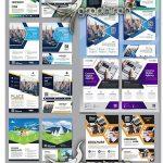 دانلود 22 طرح لایه باز تراکت تبلیغاتی متنوع وکتور Corporate Flyers Pack