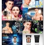دانلود مجموعه وکتور طرح های تبلیغاتی لوازم بهداشتی آرایشی و اصلاح