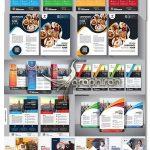 دانلود مجموعه طرح های وکتور تراکت تبلیغاتی EPS لایه باز Flyer Set Vector