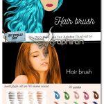 دانلود 760 براش مو ایلوستریتور Hair Brush Adobe Illustrator