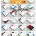 دانلود مجموعه 50 طرح وکتور لایه باز سربرگ حرفه ای Letterheads Big Bundle