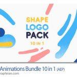 دانلود پروژه افترافکت 10 انیمیشن لوگو آماده Logo Animations Bundle 10 in 1