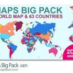 دانلود رایگان پروژه افترافکت نقشه جهان Maps Big Pack