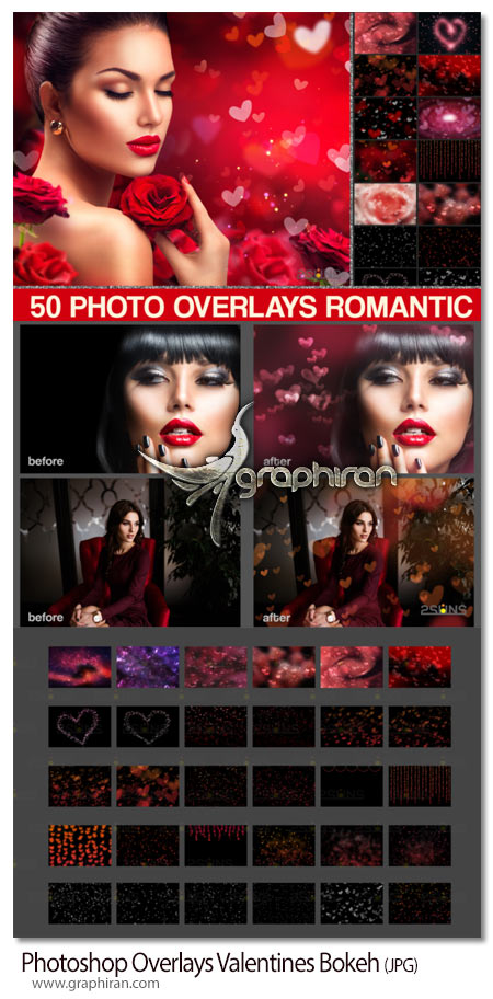 دانلود تصاویر پوششی افکت بوکه عاشقانه ولنتاین