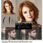 دانلود براش های فتوشاپ موی سر و ریش Squijoo Photoshop Hair Brushes