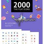 دانلود مجموعه 2000 آیکون فلت متنوع The Flat Icons 2000