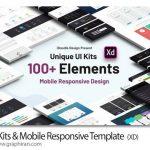 دانلود 100+ قالب آماده طراحی وب و موبایل UI Kits Web & Mobile Adobe XD Template