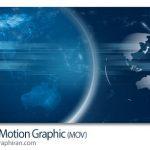 دانلود فوتیج نقشه جهان بک گراند اخبار تلویزیون Earth Motion Graphic