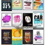 دانلود 20 طرح تراکت تبلیغاتی لایه باز تخفیف و حراجی Sale Flyer Vector Collection