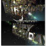 دانلود فوتیج آماده تولد با بارش ستاره و نور Happy Birthday Footage