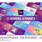 دانلود پروژه افترافکت بانکداری و اقتصادی Banking and Finance - Flat Animation