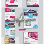 دانلود مجموعه طرح تراکت و پوستر تبلیغاتی وکتور لایه باز Corporate Flyer Template Set