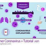 دانلود پروژه افترافکت علائم و روش های پیشگیری ویروس کرونا Explainer Coronavirus