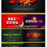 دانلود استایل های فتوشاپ ویروس کرونا STOP Corona Virus 3D Text Style