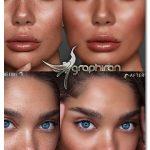 اکشن فتوشاپ روتوش پوست پرتقالی کاربردی Skin Retouch Photoshop Action