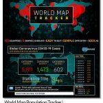 پروژه افترافکت نقشه شیوع ویروس کرونا World Map Population Tracker | COVID-19 Coronavirus Flu Pandemic