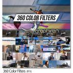 دانلود 360 پریست و افکت کالرگریدینگ فیلم افترافکت 360Color Filters