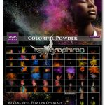 دانلود 60 تصویر پوششی پاشیدن پودر رنگی Colorful Powder Explosion Overlay