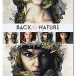 قالب عکس آماده بازگشت به طبیعت Back To Nature Photo Template