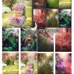 دانلود 12 پس زمینه شکوفه و باغ برای عکس پرتره Blooming Portrait Backdrop Backgrounds