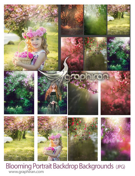 دانلود 12 پس زمینه شکوفه و باغ برای عکس پرتره