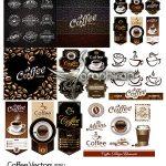 دانلود مجموعه وکتور قهوه فنجان کافی شاپ و لوگو Coffee Vectors