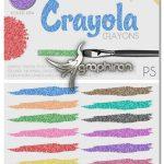 دانلود مجموعه استایل فتوشاپ مداد رنگی مومی Crayola Crayon Styles