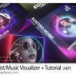 دانلود پروژه آماده افترافکت ویژوالایزر با عکس خواننده DJ Artist/Music Visualizer