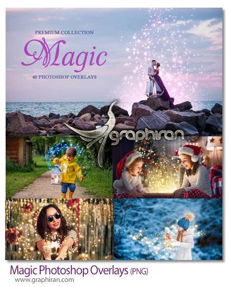 دانلود تصاویر پوششی افکت های نور جادویی و رنگارنگ