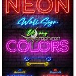 دانلود قالب های لایه باز ساخت تابلو نئون روی دیوار Neon Wall Sign Creator