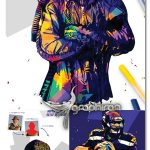 اکشن فتوشاپ افکت عکس پاپ آرت Pop Art Photoshop Action