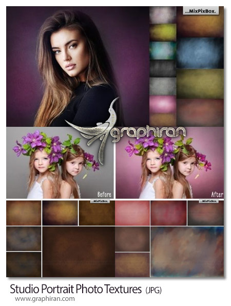 دانلود تصاویر تکسچر پس زمینه عکس آتلیه و استودیو Studio Portrait Photo Textures