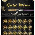 دانلود پک استایل های طلایی و شیک فتوشاپ The Gold Mine