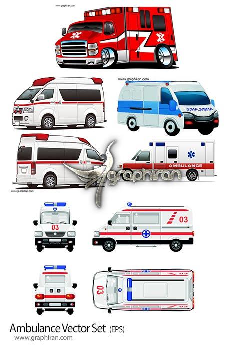 دانلود مجموعه وکتور آمبولانس اورژانس