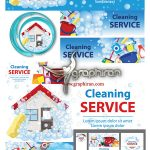 دانلود مجموعه وکتور خدمات نظافتی و شرکت خدماتی AI لایه باز