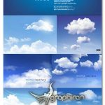 دانلود مجموعه تصاویر وکتور ابر واقعی و آسمان Clouds Background Vector