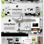 دانلود مجموعه تصاویر وکتور دکوراسیون داخلی منزل واقعی Interior Design Vectors