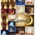 دانلود مجموعه وکتور طرح های گرافیکی ماه رمضان Ramadan Vector Pack