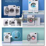 دانلود مجموعه وکتور ماشین لباسشویی واقعی Washing Machines Vectors