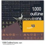 دانلود مجموعه 1000 آیکون خطی اوتلاین برای افترافکت Outline Icons