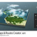 دانلود پروژه افترافکت ساخت نقشه 3 بعدی و مسیر حرکت 3D Maps & Routes Creator