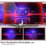 پروژه جدید افترافکت ویژوالایزر با نوار کاست نئونی Neon Audio Waveform Visualization