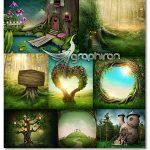 دانلود عکس های بک گراند جنگل فانتزی و رویایی ShutterStock Fantasy Forest