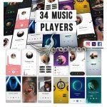 دانلود 34 ویژوالایزر موزیک استوری اینستاگرام افترافکت Music Visualization Players for Instagram Story V1.2