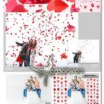 دانلود مجموعه تصاویر پوششی قلب های کاغذی Red Paper Hearts Overlays