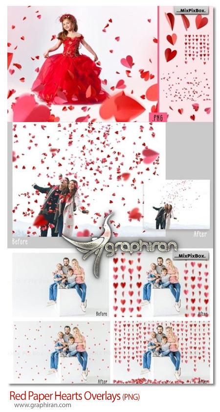 دانلود مجموعه تصاویر پوششی قلب های کاغذی
